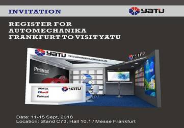 Register For AUTOMECHANIKA Frankfurt To Visit YATU