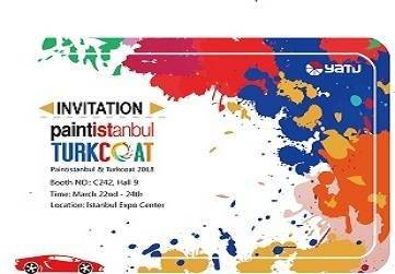 Welcome to visist us at Paintistanbul & Turkcoat Exhibition